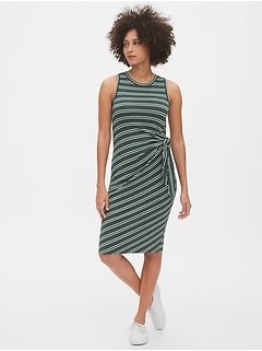 Softspun Tie-Front Midi Dress