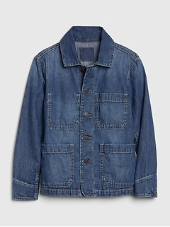 Kids Denim Chore Jacket
