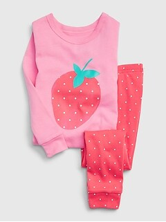 Pyjama babyGap à motif de fraise