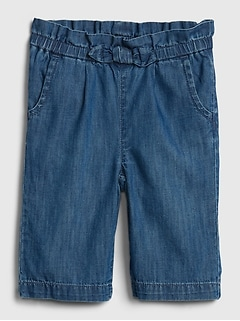 Baby Paperbag-Waist Pull-On Jeans