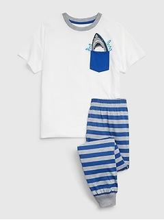 Kids Shark Pocket PJ Set