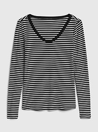 Stripe Scoopneck T-Shirt