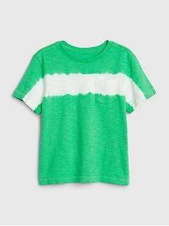 T-shirt rayé sur la poitrine pour tout-petit