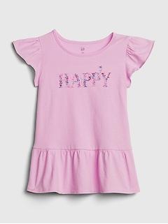 Toddler Peplum Graphic T-Shirt