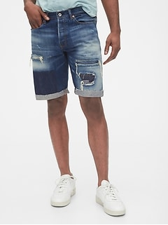 1969 Premium Destructed Denim Shorts