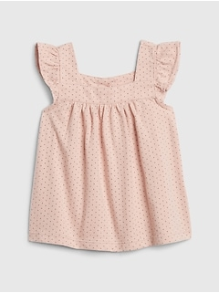 Baby Organic Cotton Dot Top