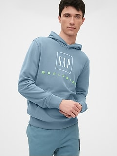 Gap Logo Graphic Pullover Hoodie