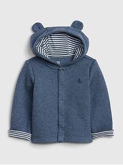 Baby Brannan Bear Quilted Hoodie Sweatshirt