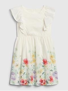 Toddler Floral Ruffle Dress