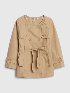 Toddler Double-Button Trench Coat