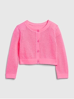 Baby Pointelle Cardi Sweater