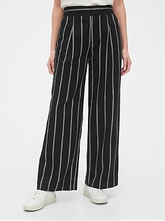 High Rise Wide-Leg Pants in Linen