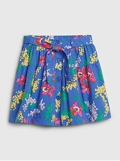 Kids Floral Flippy Skirt
