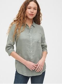 Boyfriend Shirt in Linen