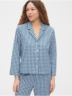 Pajama Shirt in Poplin