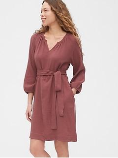 Split Neck Gauze Dress