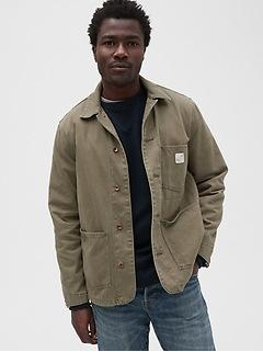 Veste en denim coupe ouvrier de style années 80