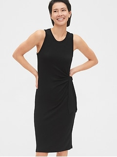 Softspun Tie-Front Midi Dress