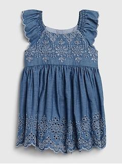 Baby Eyelet Denim Dress