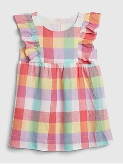 Baby Cascade Ruffle Plaid Dress