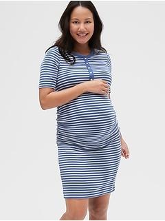 Maternity Henley Dress in Modal