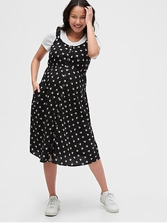 Maternity Button-Front Tank Dress in Rayon