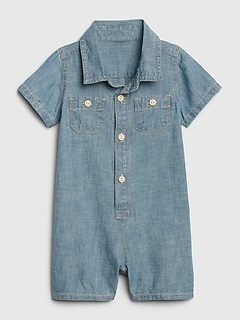 Baby Chambray Shorty One-Piece