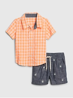 Baby Print Outfit Set