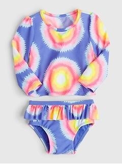 Maillot de bain anti-UV à volants pour bébé