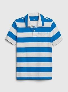 Kids Stripe Polo T-Shirt