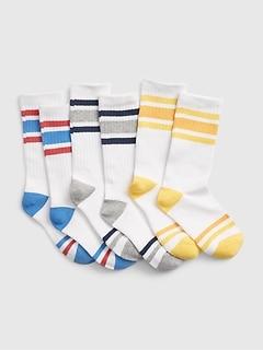 Kids Stripe Tube Socks (3-Pack)