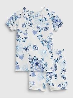 Pyjama à fleurs bleues babyGap