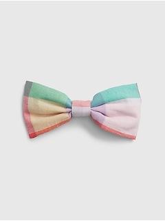 Kids Plaid Bow Tie