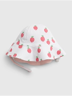 Baby Strawberry Reversible Bucket Hat
