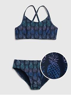 Kids Strappy Pineapple Swim Two-Piece