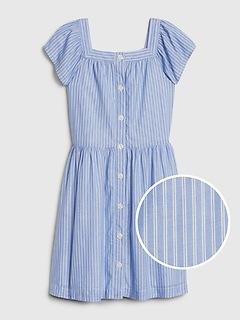 Kids Stripe Squareneck Dress