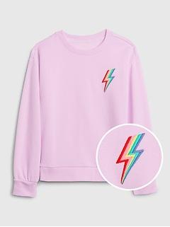 Kids Embroidered Graphic Sweatshirt