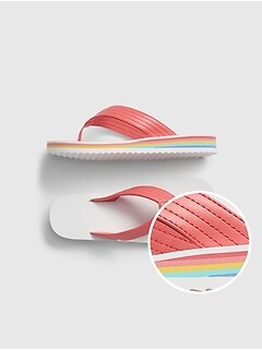 Kids Rainbow Flip Flops