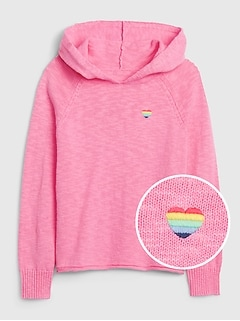 Kids Embroidered Graphic Hoodie Sweater