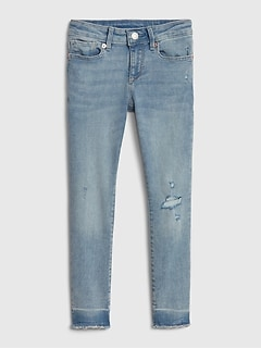 Kids Super Skinny Distressed Jeans with Stretch