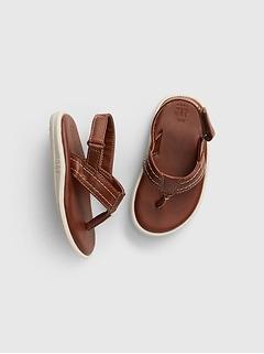 Toddler Molded Leather Flip Flop