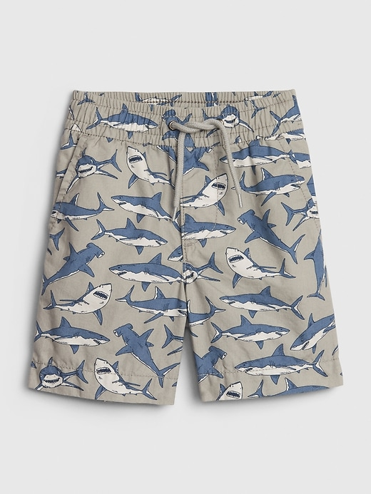 Toddler Print Poplin Pull-On Shorts