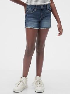 Kids Denim Shortie Shorts