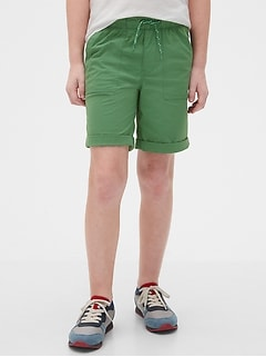 Kids Hybrid Pull-On Shorts with QuickDry
