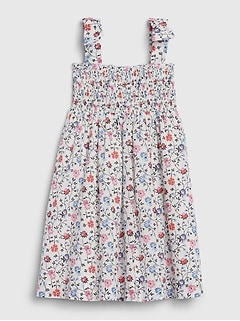 Toddler Floral Smock Dress