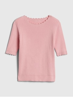 Kids Scallop Sweater