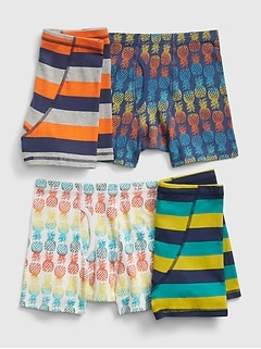 Kids Assorted Pattern Boxer Briefs (4-Pack)