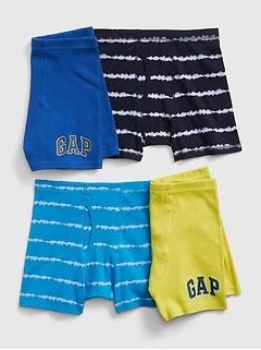 Kids Tie-Dye Boxer Briefs (4-Pack)