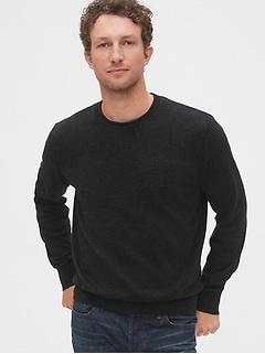 Crewneck Sweater in Linen-Cotton