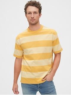 T-shirt confort à rayures